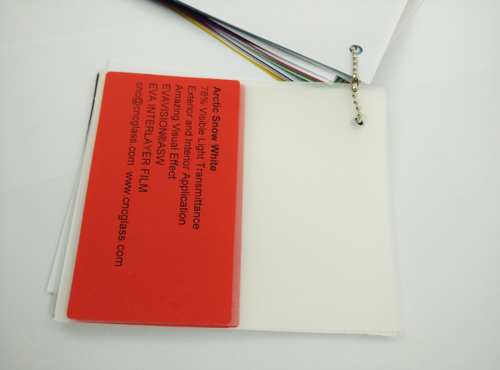 Arctic Snow White Ethylene Vinyl Acetate Copolymer EVA interlayer film for laminated glass safety glazing (16)