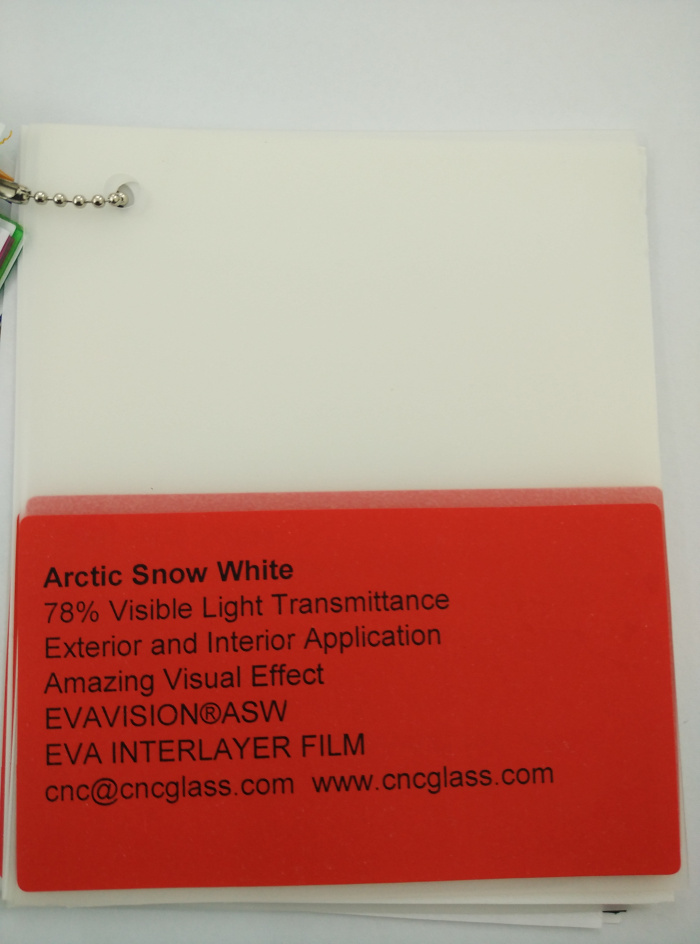 Arctic Snow White Ethylene Vinyl Acetate Copolymer EVA interlayer film for laminated glass safety glazing (36)