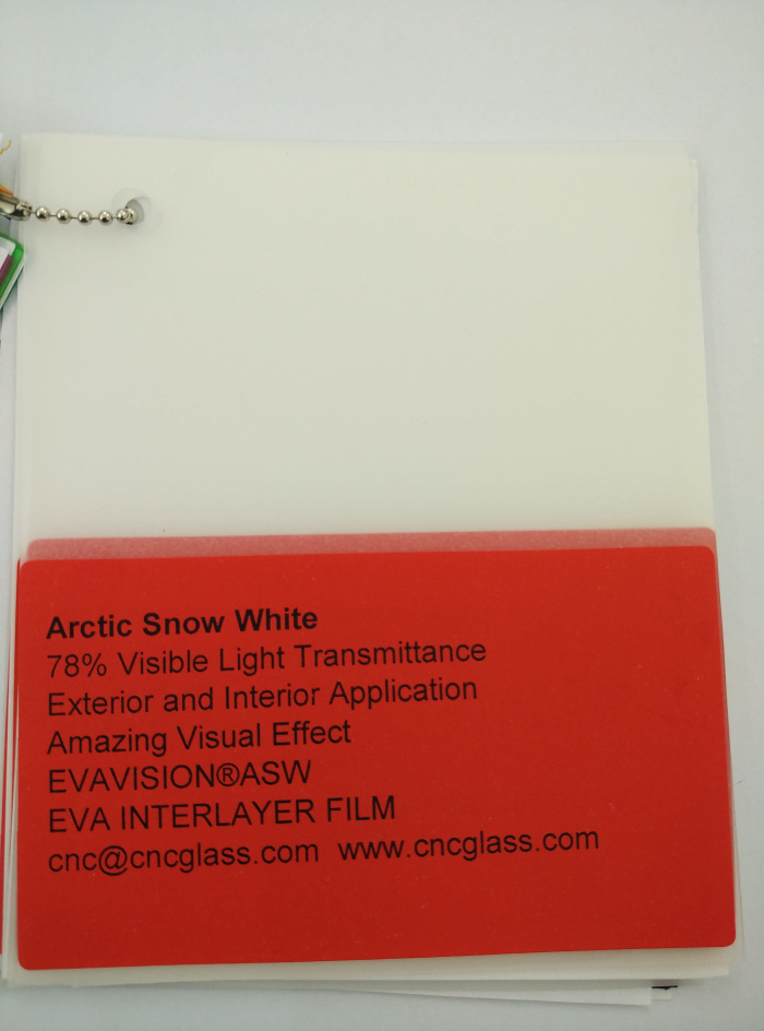 Arctic Snow White Ethylene Vinyl Acetate Copolymer EVA interlayer film for laminated glass safety glazing (37)