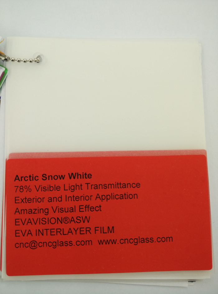Arctic Snow White Ethylene Vinyl Acetate Copolymer EVA interlayer film for laminated glass safety glazing (38)