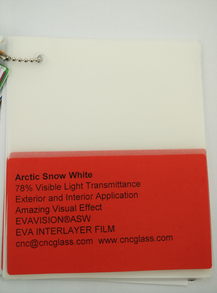 Arctic Snow White Ethylene Vinyl Acetate Copolymer EVA interlayer film for laminated glass safety glazing (39)