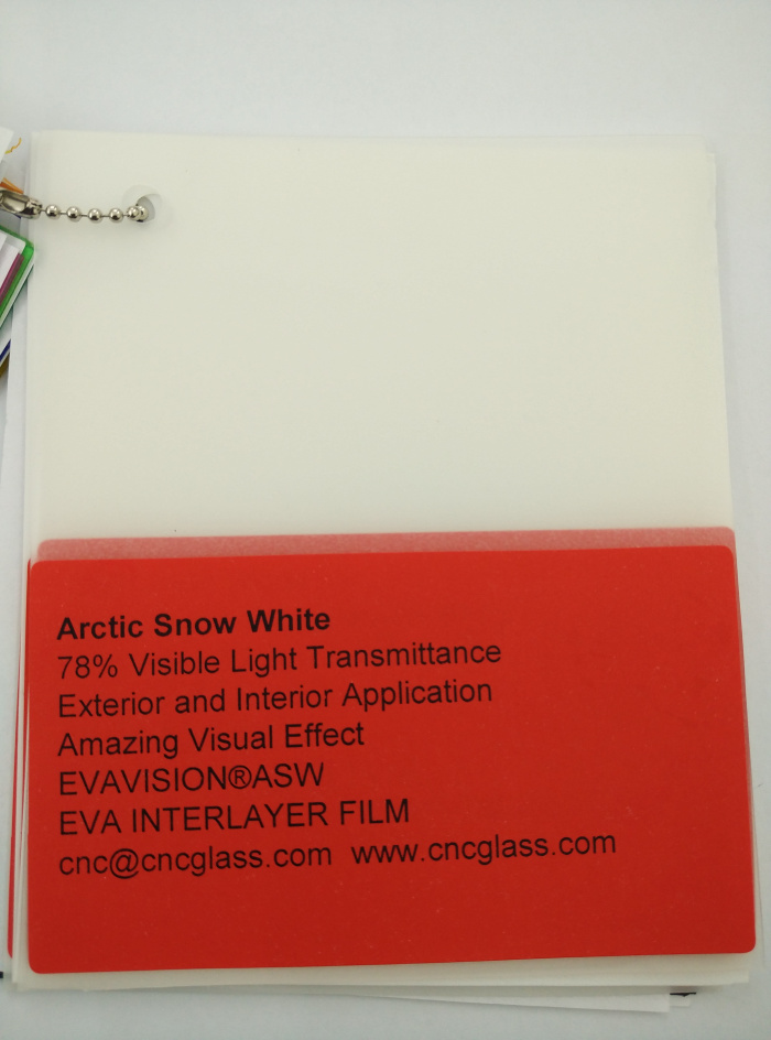 Arctic Snow White Ethylene Vinyl Acetate Copolymer EVA interlayer film for laminated glass safety glazing (40)